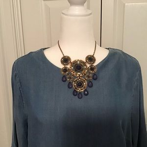 Statement piece in gold and blue